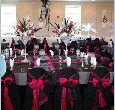 Would like this but white chair covers with black and/or red bows