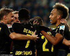 The victory moves Dortmund top of the Bundesliga, above Bayern Munich on goal…