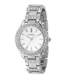 Fossil WhiteDial Glitz Dress Watch #Dillards