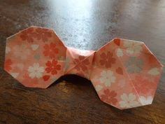 割り箸の袋でハートの箸置きを作る方法/Heart Shape Origami with Chopstick Bag /難易度2/箸袋折り紙 - YouTube
