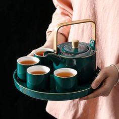 Teapot set black tea home decoration table, furniture ceramic pottery tea cup set – Tableware Design 2020 Pottery Teapots, Ceramic Teapots, Ceramic Pottery, Ceramic Plates, Vintage Ceramic, Pop Up Card, Teapot Design, Teapots Unique, Intelligent Design