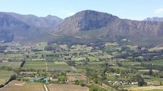 Franschoek Valley in the Western Cape - South Africa. Sa Tourism, Countries Of The World, Cape Town, South Africa, Beautiful Homes, City Photo, Landscapes, Scenery, African