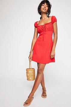 Your Type Mini Dress - Red Cap Sleeve Mini Dress Mode Printemps Été, Ete  2018 42221fd7d76