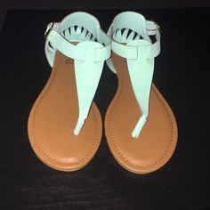 BNWT Teal Strappy andals Brand new teal sandals bought from Charlotte Russe. In excellent condition and have never been worn. They were a gift and don't fit. Closest Charlotte Russe is a drive so this is much easier! Charlotte Russe Shoes