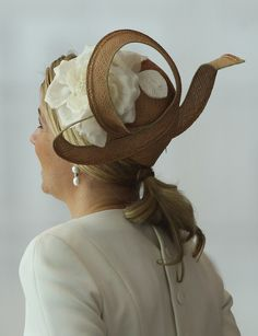 tripleaprincesses: Queen Maxima of the Netherlands-back view of her hat