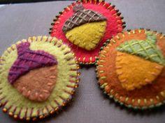 acorn pins by skippingstonesjewelry, via Flickr