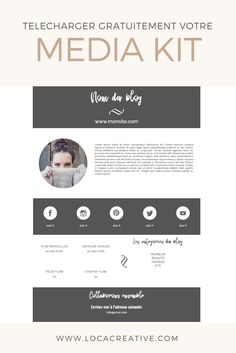 Media kit template free gratuit