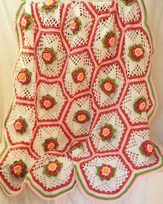 Rose Garden Afghan Crochet Pattern
