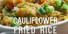 Want a healthier option of fried rice that doesn't pack as much carbs. Making cauliflower fried rice is easy, healthier, and just as good. Check out the video below: Follow us on Pinterest >> Tip Hero Ingredients: 1 small head of cauliflower (...