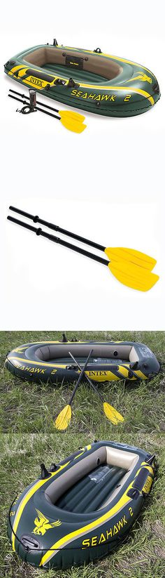 Inflatables 87090: Intex Seahawk 2 Inflatable Boat Set With Oars And Air Pump | 68347Ep BUY IT NOW ONLY: $52.99