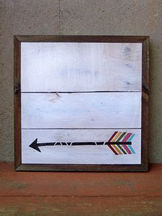 Reclaimed Wood Arrow Painting by Rustic Wood Originals on Etsy, $80.00