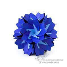 Kusudama Me! - Modular origami! Mystic Twister, looks like primroses
