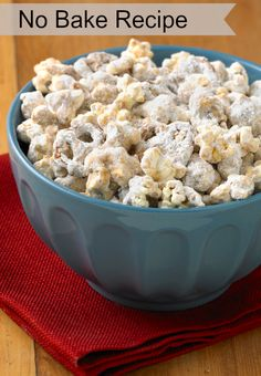 Peanut Butter Popcorn Munch  - enjoy this no bake recipe for dessert and snacks the following day!