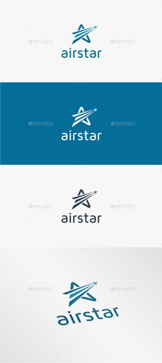 Air Star - Logo Template Vector EPS, AI. Download here: http://graphicriver.net/item/air-star-logo-template/11450784?ref=ksioks