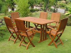 International Caravan Royal Tahiti Merida Outdoor Patio Dining Set – Home Trends 2020 Wooden Garden Furniture, Teak Furniture, Patio Furniture Sets, Modern Furniture, Furniture Design, Quality Furniture, Office Furniture, Furniture Movers, Furniture Assembly