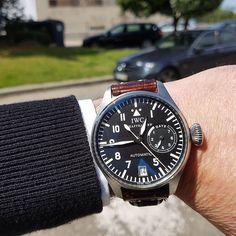 REPOST!!!  IWC Big Pilot watch  #watch #swiss #chronograph #automatic #iwc #bigpilot  Photo Credit: Instagram ID @ferlogios