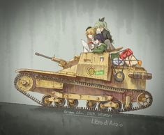 Making sure they got everything on the shopping list - GIRLSundPANZER Controversial Topics, Magic Eyes, Tank Girl, Manga Pictures, Alien Logo, Original Image, Anime Characters, Cool Girl, Anime Art