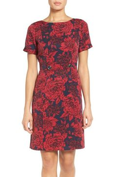Adrianna Papell Embellished Jacquard Sheath Dress available at #Nordstrom