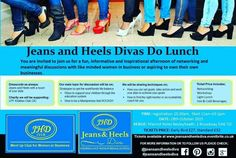 The Jeans and Heels Diva Club is a meet up group for women who want to  et work and socialise with like minded women. We host a variety of meet up options from coffee mornings to club nights an every February and October we host our Divas Do Lunch where our ladies can network, have meaningful discussions, take part in workshops all over a light lunch.