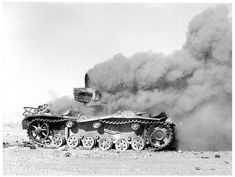 British tank burning after direct hit during the Battle of El Alamein fought from October 23 to November 1942 in the Western desert. Military Photos, Military History, North African Campaign, Afrika Korps, Ww2 Tanks, Time Photo, German Army, World War I, Tanks