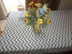 Special of the week gray chevron zigzag table by LuxuryLinenLoft, $39.00