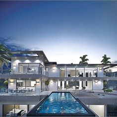 """8,769 Likes, 92 Comments - Mega Mansions (@mega_mansions) on Instagram: """"Beautiful Modern Home✨ 