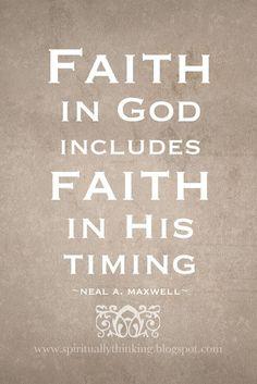 ....and Spiritually Speaking: Timing