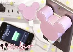 mice, mickey mouse, japan, gadgets, mickey ears, disney trips, pink, ear usb, disney characters