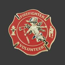 VOLUNTEER FIREFIGHTER ANGEL PIN NEW MADE BY GUNZ
