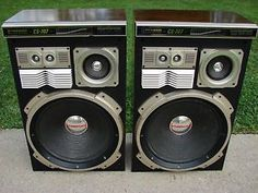 Vintage Pioneer CS 707 Speakers for Home Audio 300 w 16 inch Subwoofer Japan
