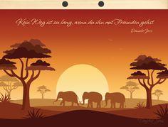 Vektorarbeit mit Verlaufsfarbe ..... Notizen und Anleitungen von Daniela Joss sind im affinity-forum.ch Affinity Designer, Movie Posters, Cards, Animals, Africa, Tutorials, Colors, Film Poster, Animaux