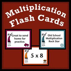 These multiplication flash cards are a great addition to math centers and are perfect for practice or remediation of multiplication facts. Students love playing the game of war with them. Send them home for those needing the extra practice. Your students will love the bright colors and figures inspired by Native American petroglyphs.