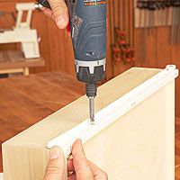 How to install epoxy-coated roller drawer slides