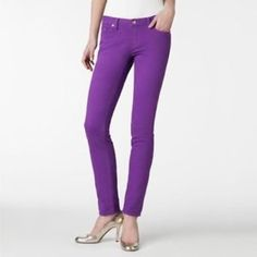 Kate Spade Broome Street Jeans Purple Kate Spade Broome Street jeans. These are adorable and so comfy! Size 26. They've been worn a couple times but are in great condition with no flaws. I'm open to offers and I have a 30% bundle discount so don't be shy! :) kate spade Jeans