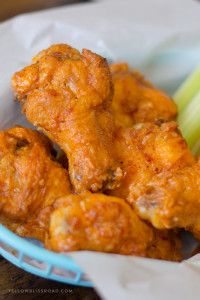 Yellow Bliss Road BEST EVER Crispy Baked Chicken Wings with Buffalo Sauce