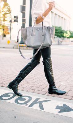 7847886e15ec Fall Fashion Look Knee Boots