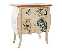 Mueble auxiliar en madera de abeto y DM Mariposas