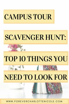 Campus Tour Scavenger Hunt: Top 10 Things To Look For when touring colleges or universities // follow us @motivation2study for daily inspiration