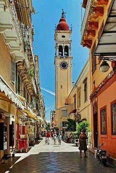 Corfu island,Greece Corfu Town, Corfu Island, Greece, Trail, Building, Places, Beautiful, Centre, Greece Country