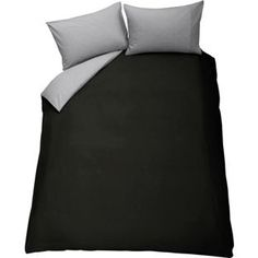 Buy ColourMatch Jet Black and Flint Grey Bedding Set - Double at Argos.co.uk - Your Online Shop for Duvet cover sets.