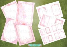 rosa  Karten und Briefpapier, vintage, shabby chic, romantisch, einladung, geburtstag,viktorianisch,Grußekarte, Einladung und viele mehr.... von KaleylArts auf Etsy