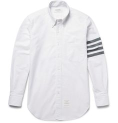 Slim-Fit Striped Cotton Oxford Shirt | MR PORTER
