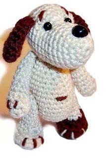 1000 схем амигуруми на русском: Маленькая собачка