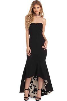 fd150d2bab62b FINAL SALE - Florence Black Contrast Mermaid Dress