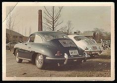 "paperink id: photos200s Photo measures approximately 5"" x 3.5"". Fantastic late 1960's Vintage Porsche Automobiles! Pencil note on reverse reads Spring 1968. This is an original period photograph. In G"