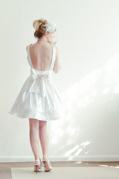 Short Wedding Dress - The Bridal Dish adores this trend!  Read more in our blog!
