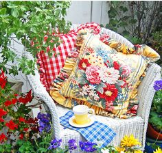 Sitting in the garden ~ cottage garden ideas and home decor by My Painted Garden