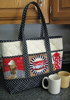 A tote for use with novelty panel fabric   $pattern