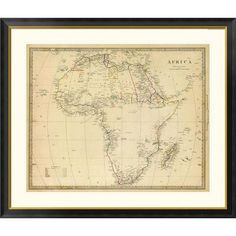 Global Gallery Africa, 1839 Framed Graphic Art Size: