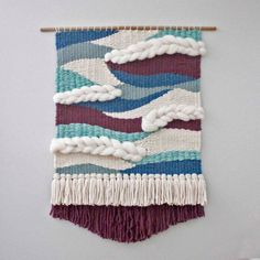 Custom Made To Order Large Wall Weaving Wall Hanging Woven Weaving Wall Hanging, Weaving Art, Tapestry Weaving, Loom Weaving, Wall Tapestry, Hand Weaving, Wall Hangings, Macrame Patterns, Weaving Patterns
